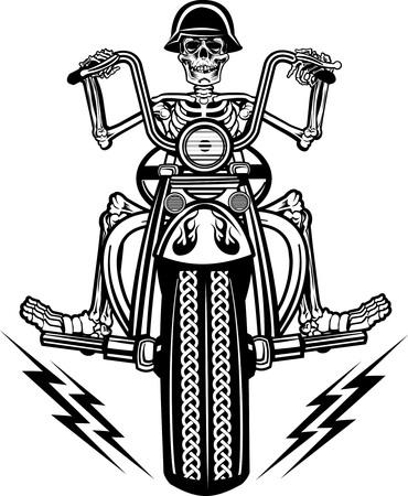 esqueleto: esqueleto en la motocicleta
