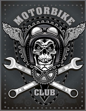 custom car: vintage motorcycle label