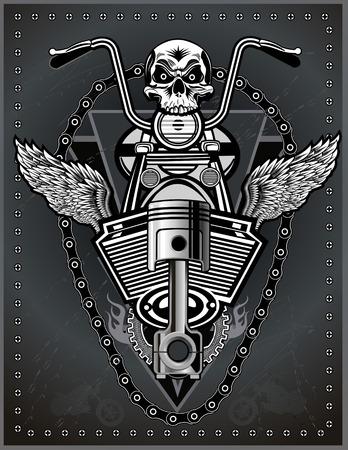 emblem racing: vintage motorcycle label