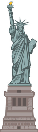 statue of liberty: Statue of Liberty. New York and American symbol Illustration
