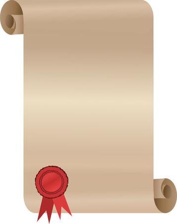 signatory: paper scroll