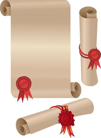 paper scroll: paper scroll
