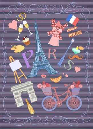 moulin: illustration  of Paris