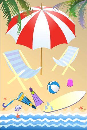 parasols: beach parasols and sunny day