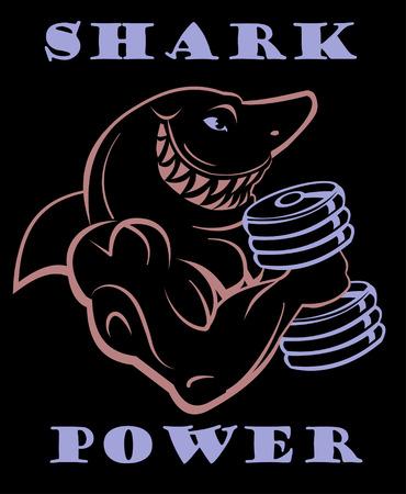 menacing: Gym Shark