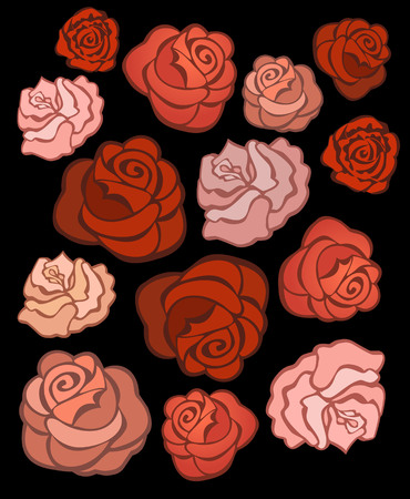 dozen: Seamless texture of bright red roses