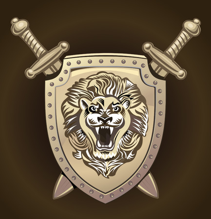 knightly: Vector Lion of shield Illustration