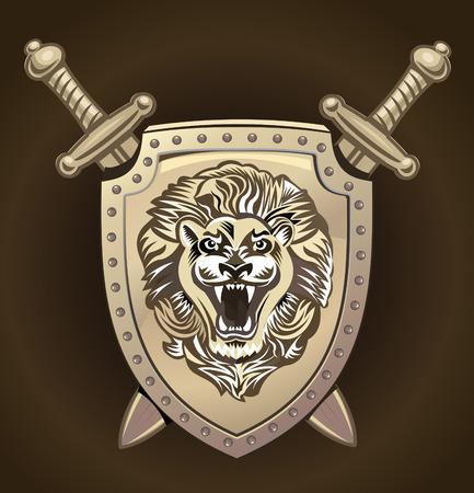 Vector León del escudo