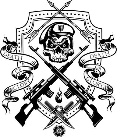gun fight: Skull tattoo Combat