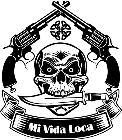 fusils Skull & croisés