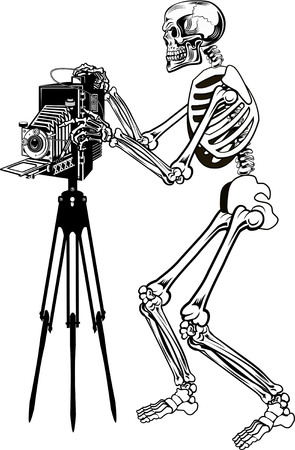 skeleton hand: camera with Skeleton