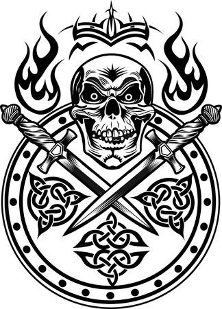 broadsword: Dagger & Skull