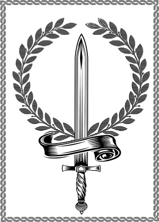 warrior sword: sword Illustration