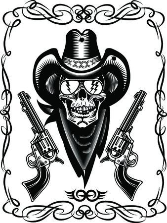 cowboy: Cowboy Skull and Revolver