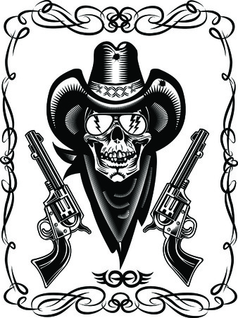 vaquero: Cr�neo del vaquero y Revolver