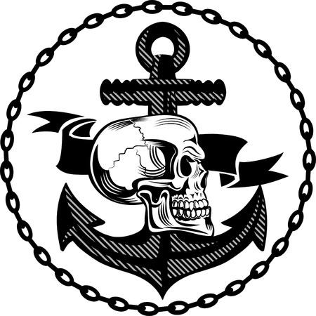 sea robber: skull of an anchor