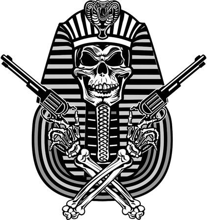 pharaoh: Pharaoh Skull Illustration