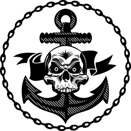 crossbone: skull of an anchor