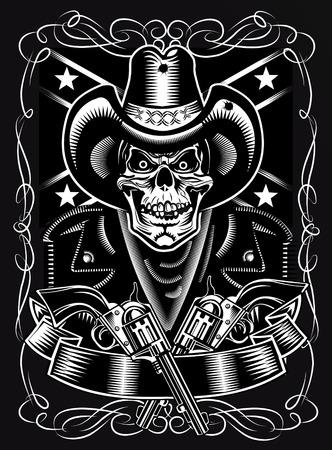 revolver: Cowboy Skull and Revolver
