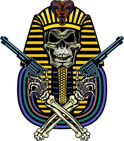 Pharaoh Skull Illustration