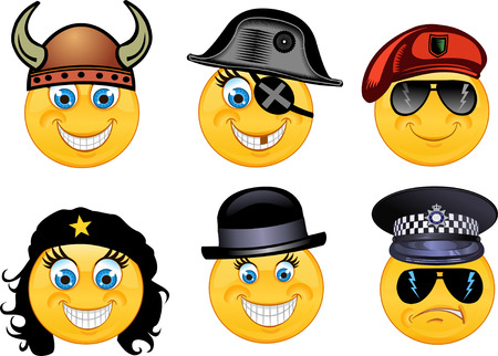 smile face: Vector style smile face icons