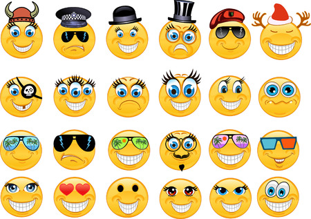 laughing face: Emoticon Illustration