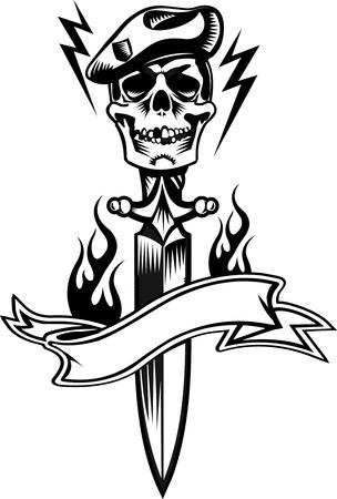 stabbing: skull dagger knife