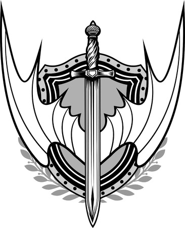 sabre: sword with wings Illustration