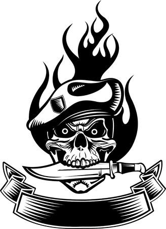 space wars: skull dagger knife