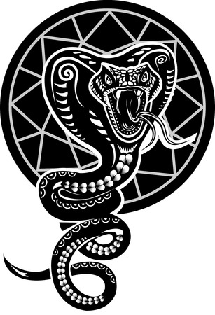 Cobra Snake Tattoo Vektorgrafik