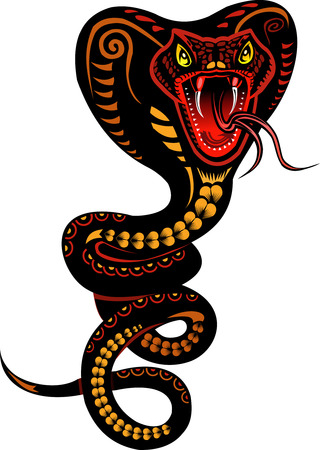 serpiente cobra: Tatuaje de la serpiente de la cobra