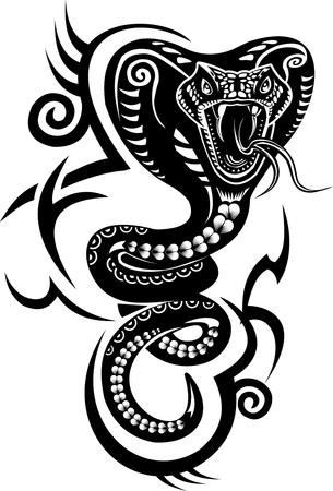 Tatuaje de la serpiente de la cobra