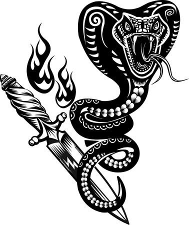 white snake: Snake Tattoo Cobra