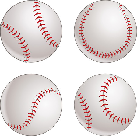 baseball: Béisbol pelota  Vectores