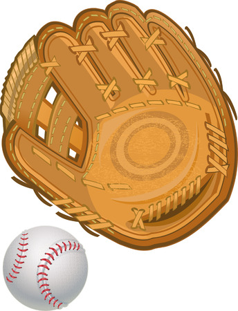 Gant de baseball avec le ballon