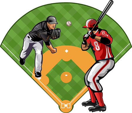 fastball: Baseball pitcher throws ball.