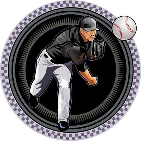 baseball pitcher: Baseball pitcher throws ball.