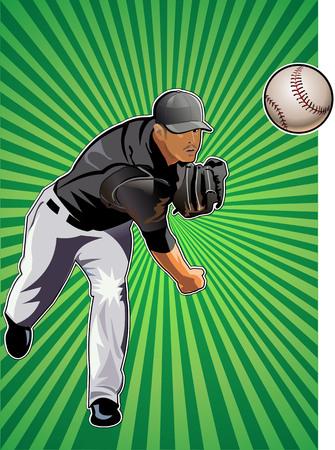 strong base: Baseball player throws ball