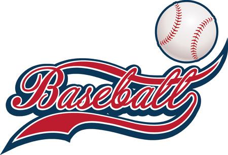 pelota beisbol: Béisbol pelota  Vectores