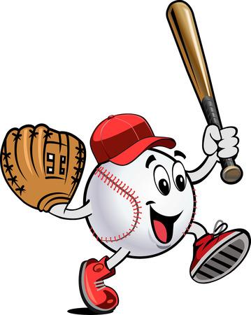 mitt, ball and bat