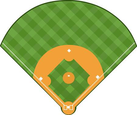 野球のフィールド  イラスト・ベクター素材