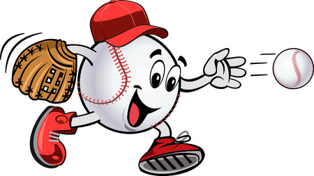 Baseball pitcher throws ball