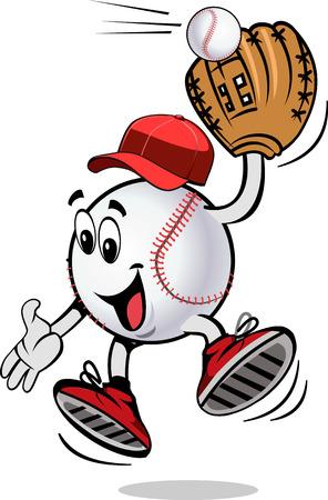 Play ball. Baseball Jamp  イラスト・ベクター素材
