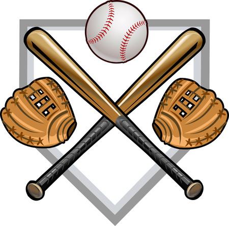 mitt: Baseball label mitt ball bat