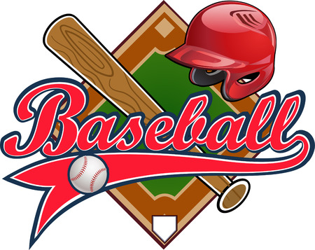 Baseball label. Baseball helmet Ball Bat field