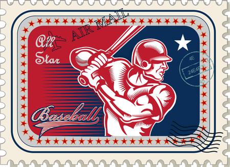postage: vintage Baseball postage stamp