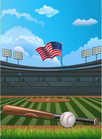 infield: Baseball stadium