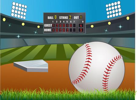 pelota beisbol: El marcador de béisbol