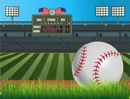 mound: Baseball stadium