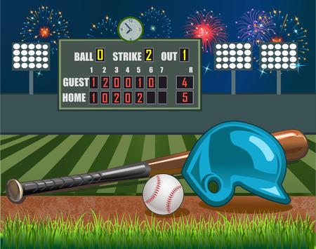 baseball: Estadio de baseball Vectores
